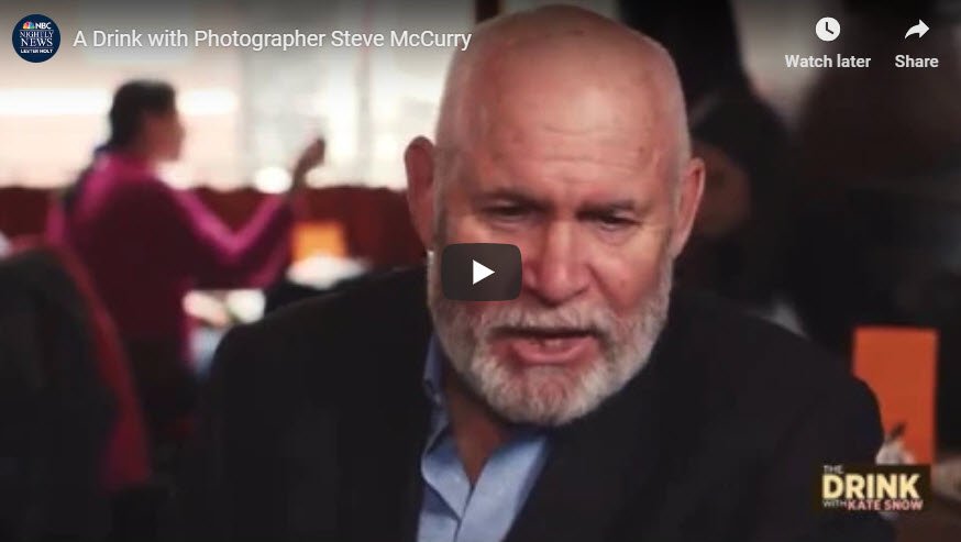 Screen shot of video interview of Steve McCurry posted at PetaPixel