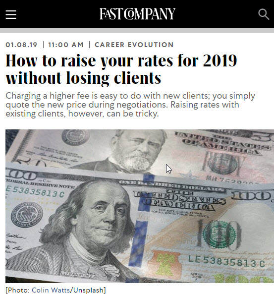 Screenshot of article posted on Fast Company website