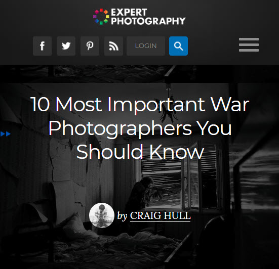Screenshot of article posted at Expert Photography
