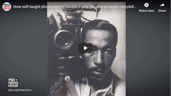 Screenshot of article on Gordon Parks posted at Peta Pixel