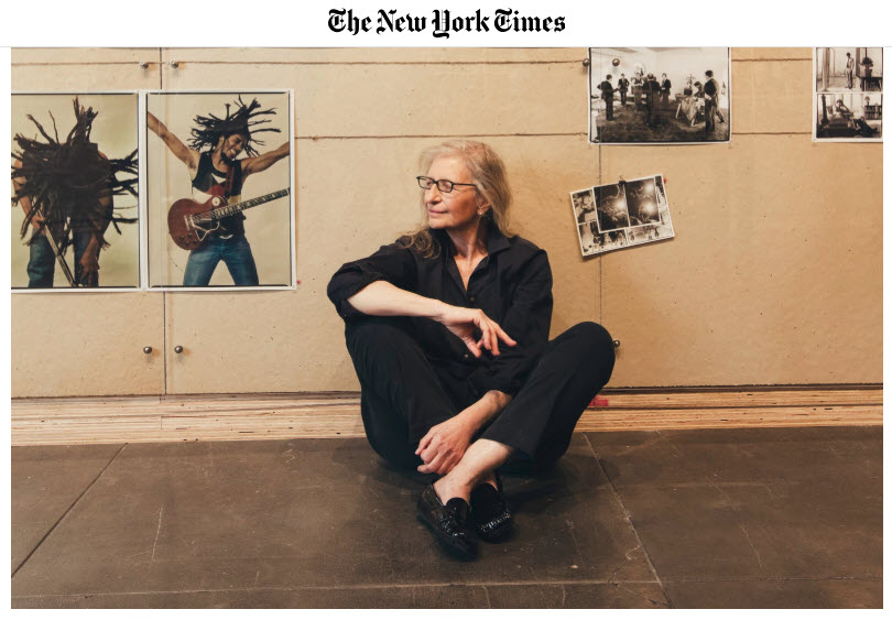 Screenshot of article on Annie Leibovitz posted on The New York Times