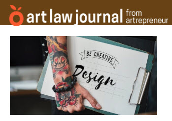Screenshot of article posted on Art Law Journal web site