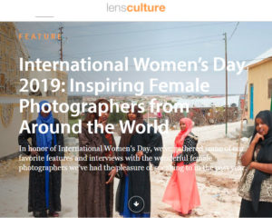 Screenshot of article posted at LensCulture