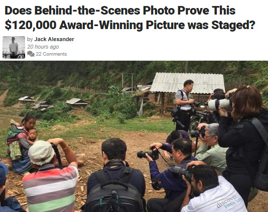 Screenshot of article posted at Fstoppers.com