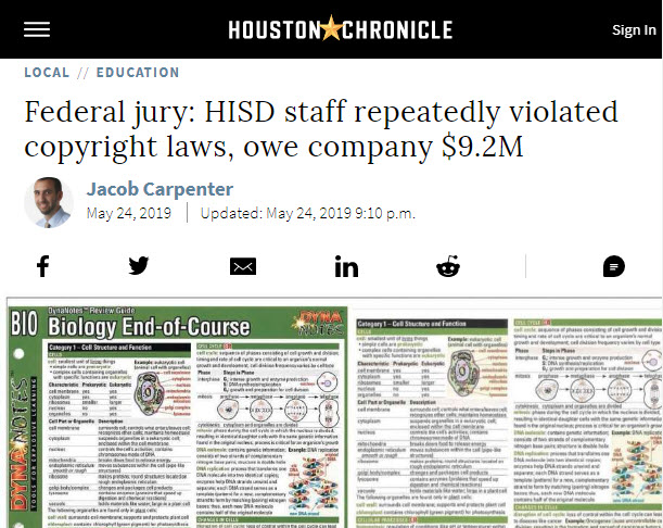 Screenshot of article posed at The Houston Chronicle