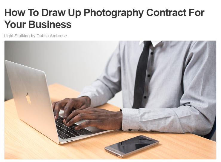 Screenshot of article posted at LightStalking