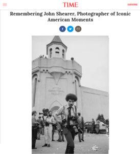 Screenshot of John Shearer obituary posted on TIME.com