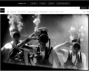 Screenshot of article posted at Magnum