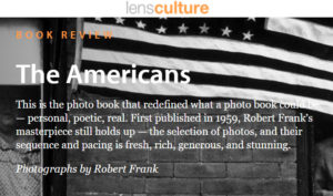 Screenshot of article on The Americans posted on LensCulture
