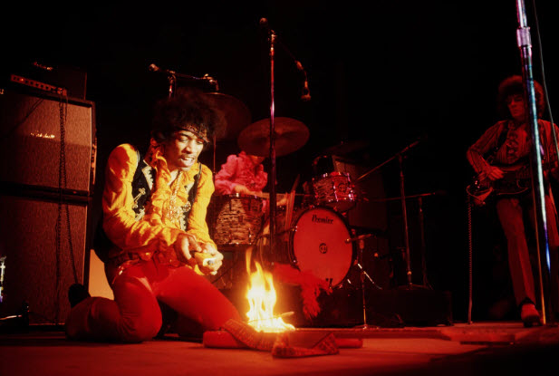 Photo of Jimi Hendrix taken by Jim Marshall in 1967