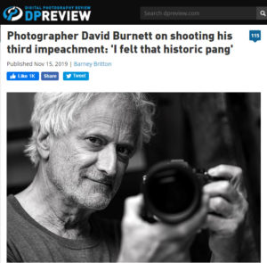 screenshot of article about David Burnett posted on DPReview