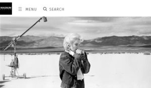 Screenshot of article about photojournalist Eve Arnold posted on Magnum Photos