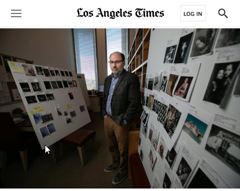 Screenshot of article posted at Los Angeles Times