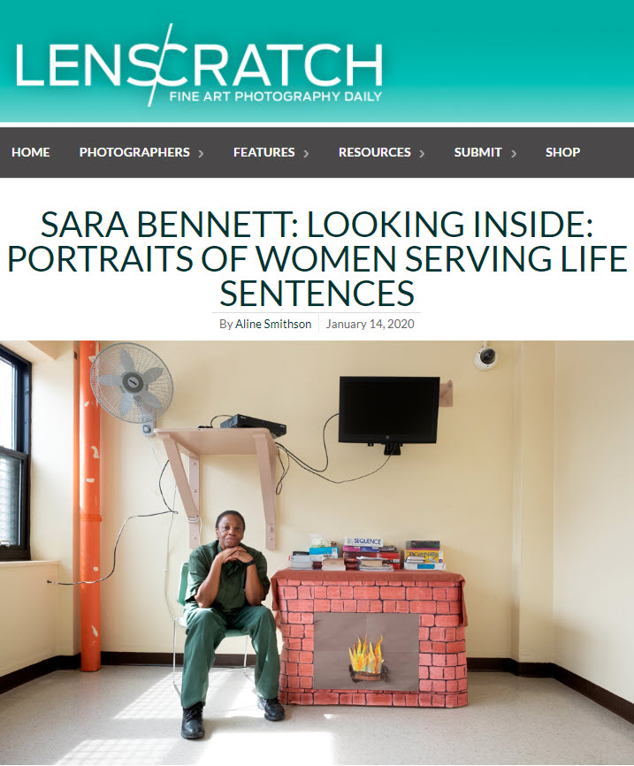 Screenshot of article posted on Lenscratch