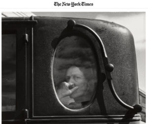 Screenshot of article about Dorothea Lange posted at The New York Times