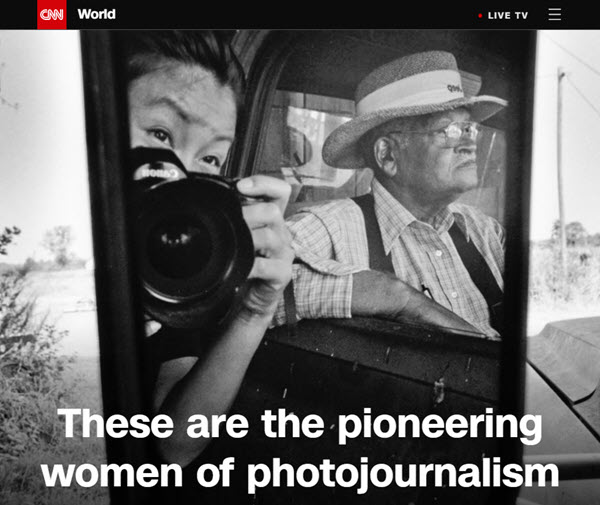 Screenshot of article on women journalists posted on CNN World