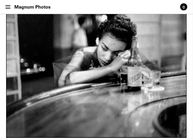 Screenshot of article about Eve Arnold posted on Magnum