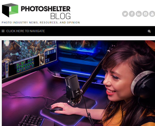 Screenshot of article posted on PhotoShelter Blog