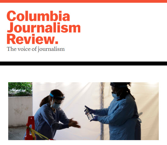 Screenshot of article posed in the Columbia Journalism Review