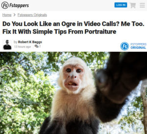Screenshot of article on how to improve video calls posted on Fstoppers