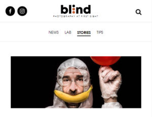 Screenshot of article on lockdown stories posted on Blind Magazine