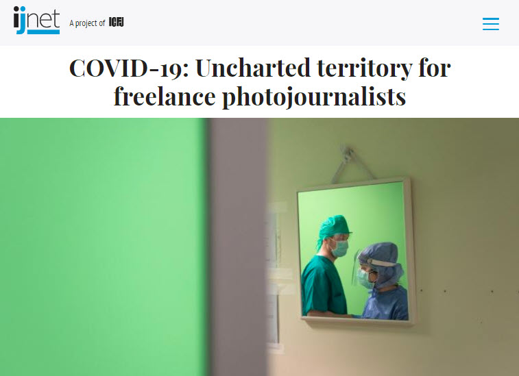 Screenshot of article on COVID-19 posted on IJNet.