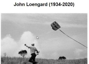 Screenshot of John Loengard obit posted on The Eye Of Photography