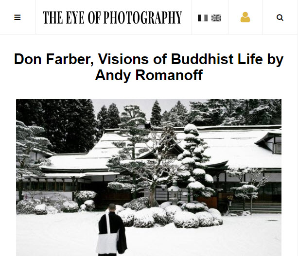 Screenshot of article on Don Farber posted on The Eye of Photography