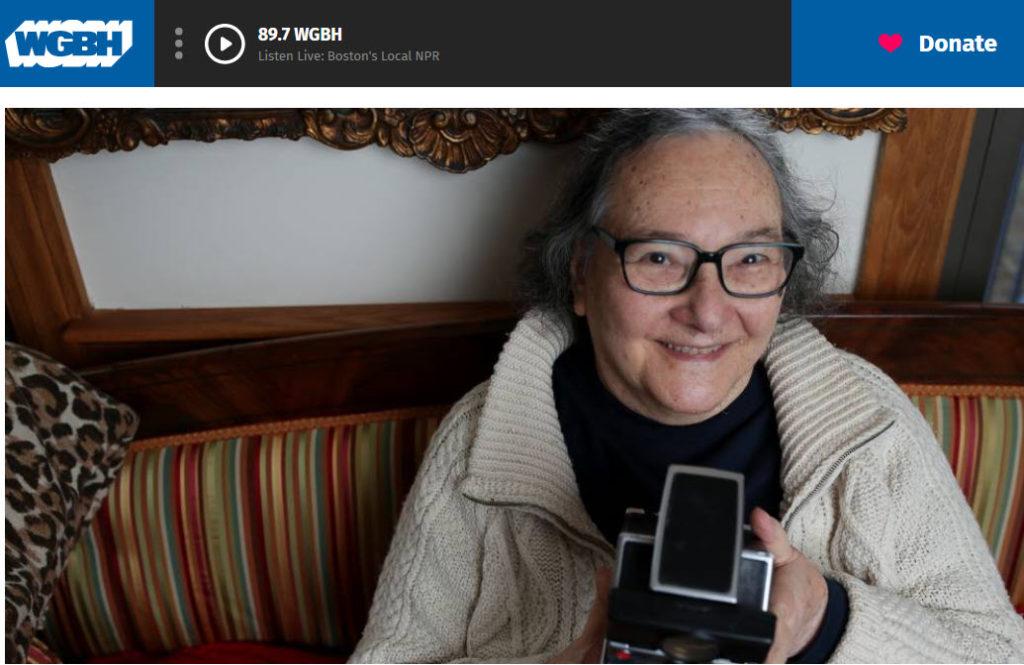 Screenshot of Elsa Dorfman obituary posted on WGBH
