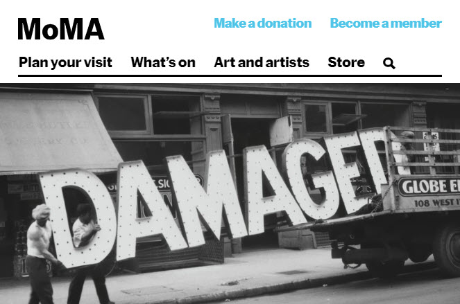 Screenshot of article posted on MoMA Magazine