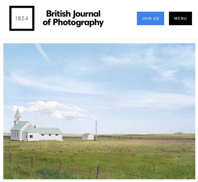 Screenshot of article posted on The British Journal of Photography