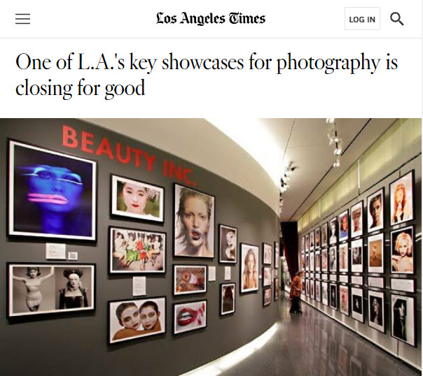Screenshot of article posted on the Los Angeles Times Web site