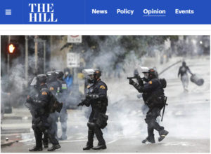 Screenshot of article on BLM protests posted on The Hill