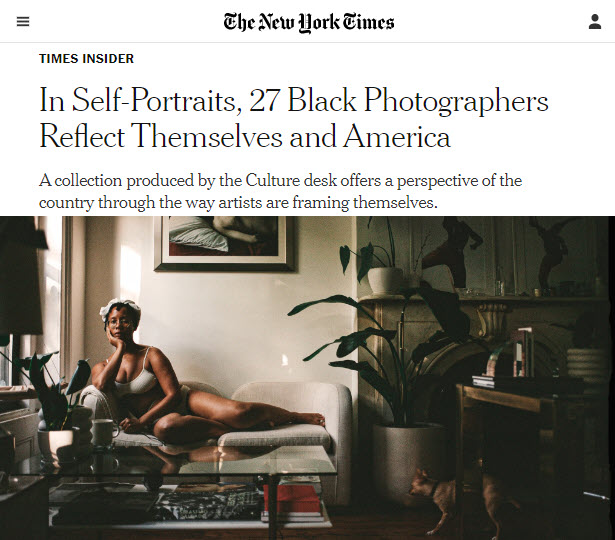 Screenshot of article posted on The New York Times