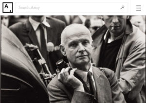 Screenshot of article about Henri Cartier-Bresson posted on Artsy