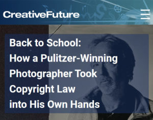 Screenshot of article posted on Creative Future