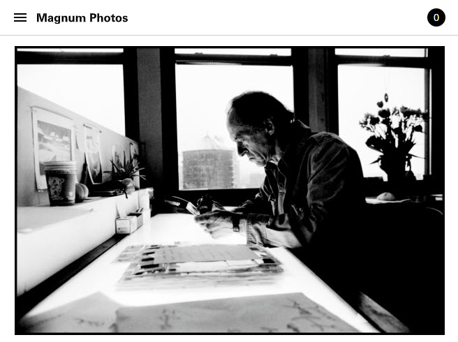 Screenshot of Paul Fusco obituary posted on Magnum Photos.
