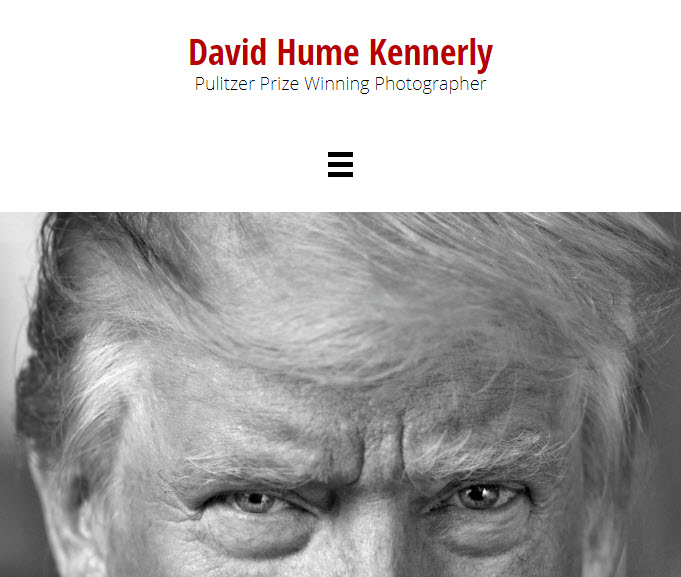 Screenshot of article posted on David Hume Kennerly Blog