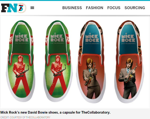 Screenshot of article posted on Footwear News