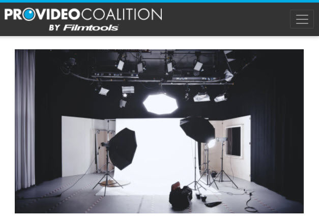 Screenshot of article posted on Pro Video Coalition
