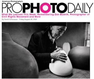 screenshot of article on Dan Budnik posted on Pro Photo Daily