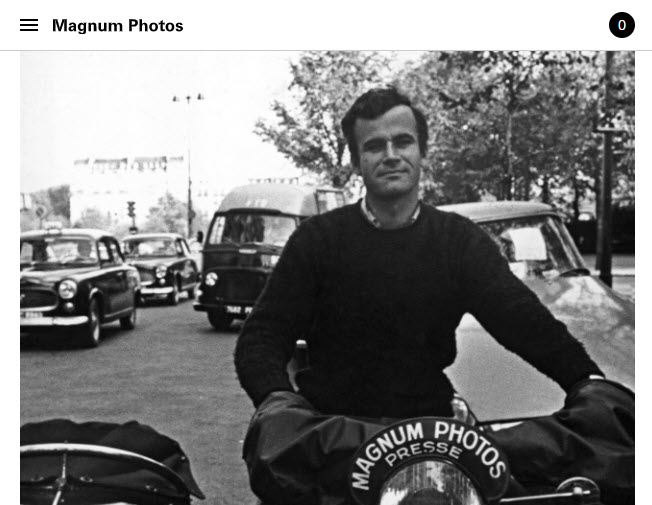 Screenshot of obituary of BrunoBarbey posted on Magnum Photos