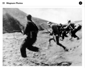 Screenshot of article on Robert Capa posted on Magnum Photos