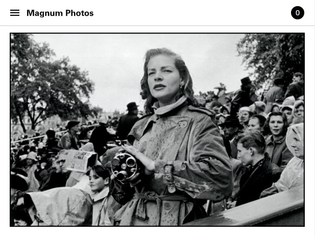Screenshot of rticle posted on Magnum Photos