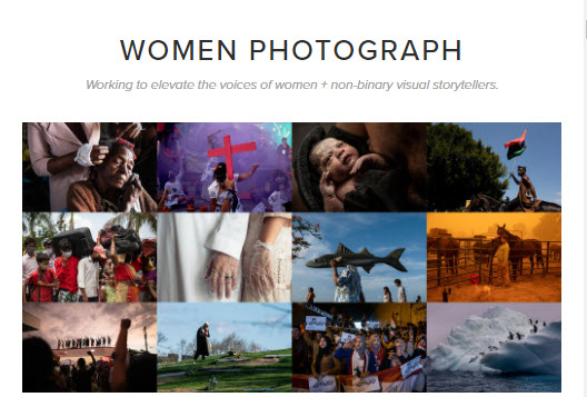 Screenshot of article posted on Women Photograph