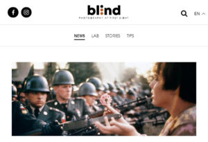 Screenshot of article on Marc Riboud posted on Blind Magazine