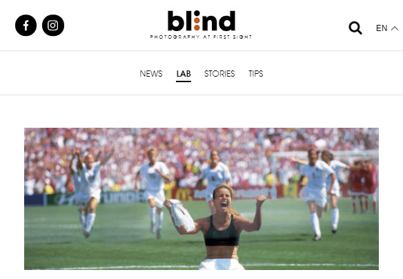 Screenshot of article posted on blind Magazine