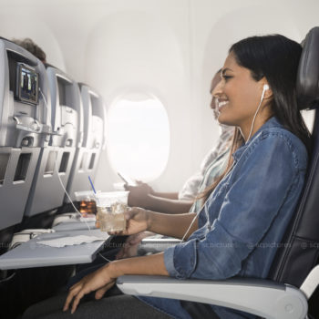 2018 commercial photograph of American Airlines 737Max featuring Premium Economy interior and lifestyle shots by professional director/photographer Stewart Cohen