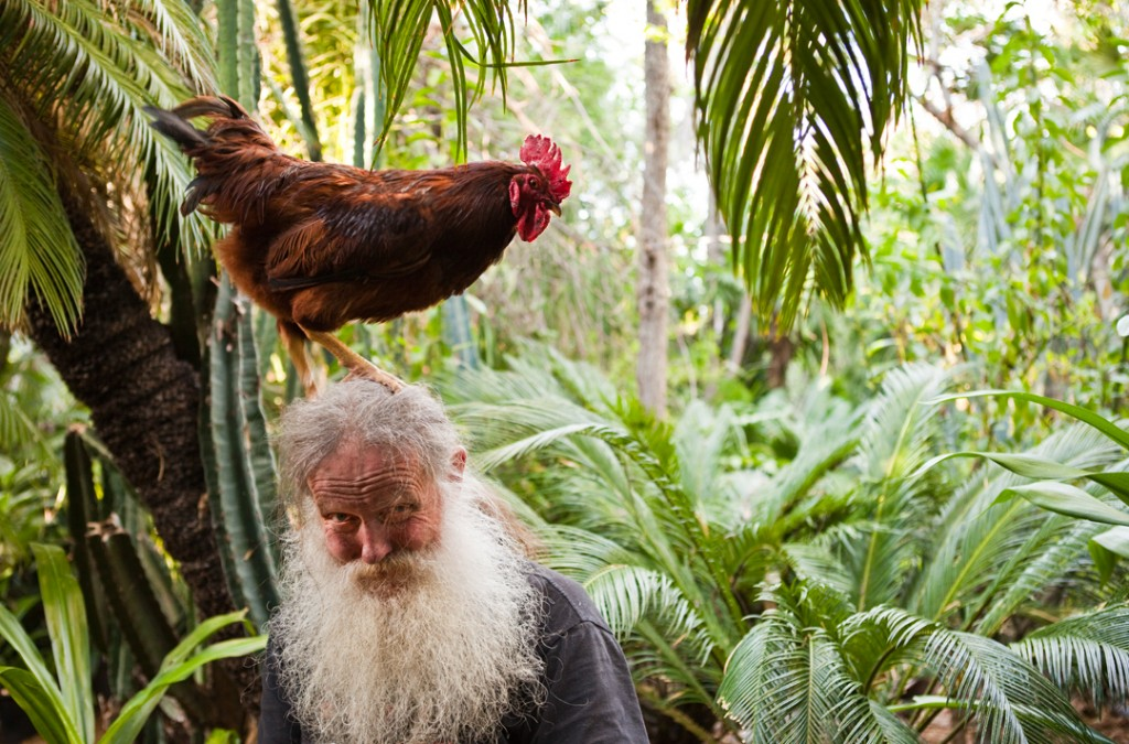 Tim Dundon, Compost Wizard, and His Rooster