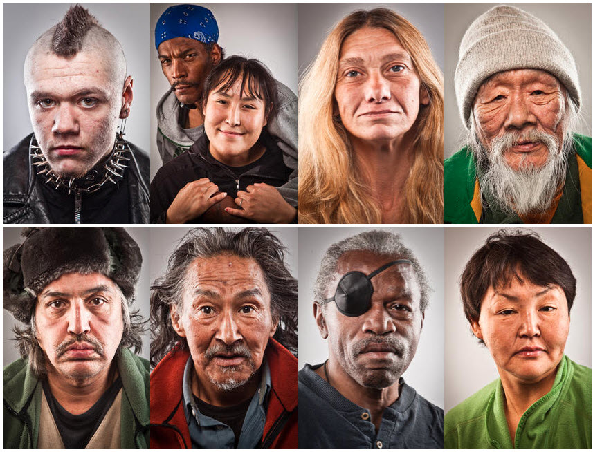 Gallry og homeless community portraits